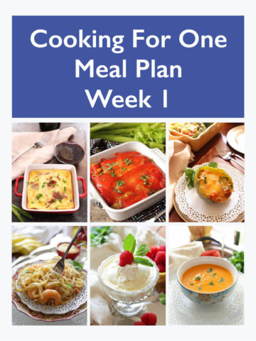 Meal Planning For One - Week 1