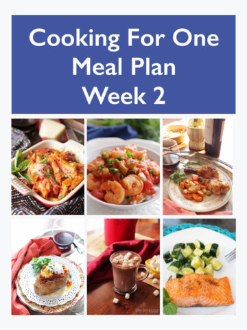 Easy Dinner Ideas - Meal Planning For One - Week 2