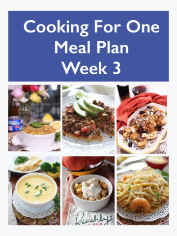 Easy Dinner Ideas - Meal Planning For One - Week 3