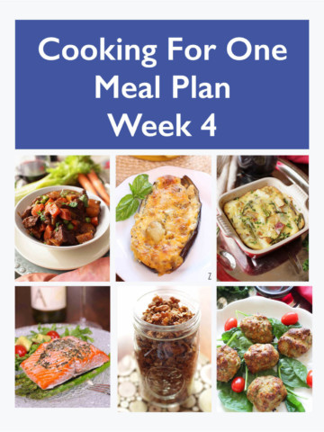 Meal Planning For One - Easy Dinner Ideas - Week 4