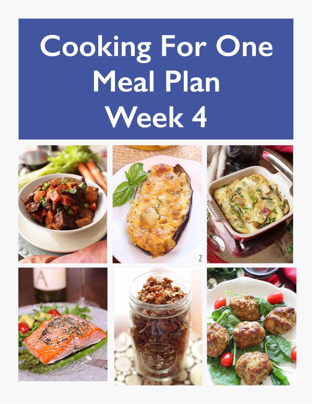 Weekly Meal Plan for One   Week 8   One Dish Kitchen