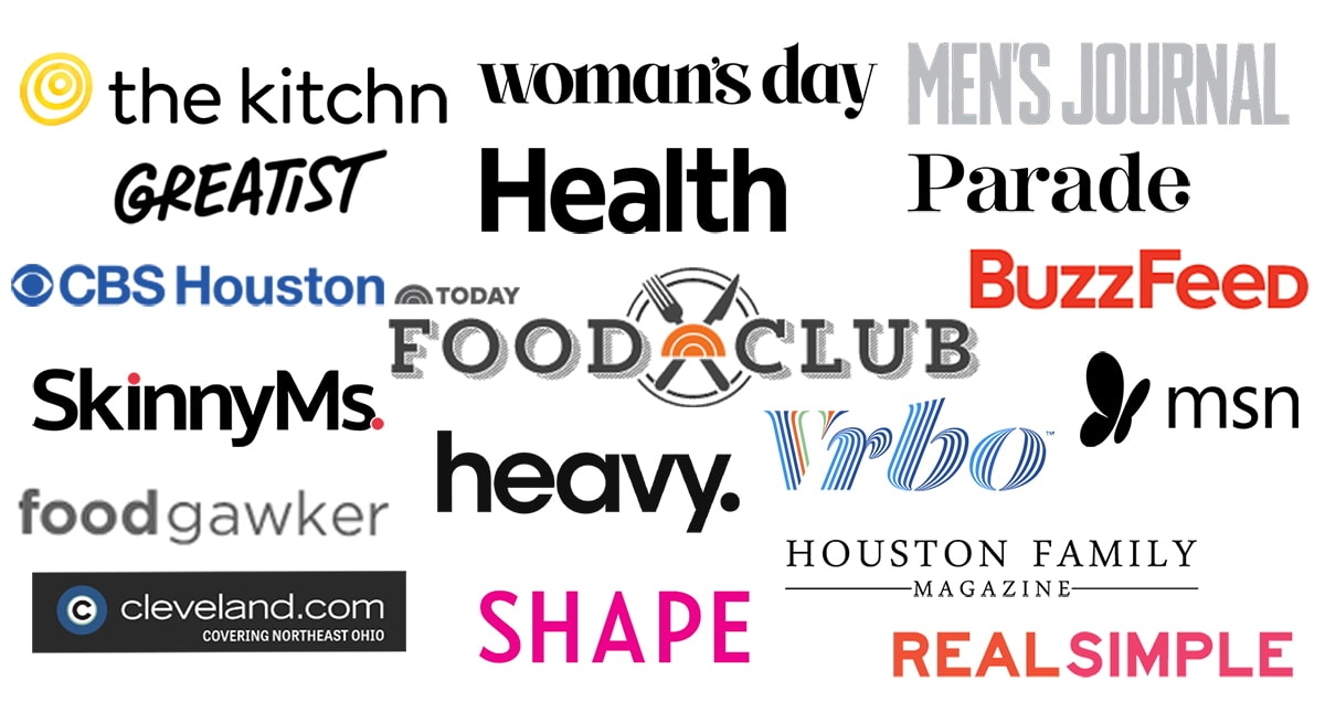 Logos of publications that One Dish Kitchen has been published
